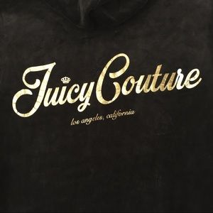 JUICY COUTURE Velvet/Velour Full-zip Hoodie Gray M